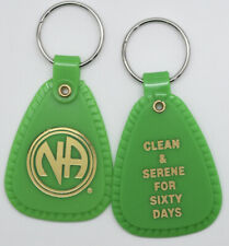 NARCOTICS ANONYMOUS  NA GREEN  KEY TAG 60 DAYS 2 month Clean Sobriety Sober