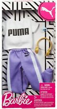 Barbie Outfit Clothes Puma White Top & Purple Joggers with Headphones & Watch