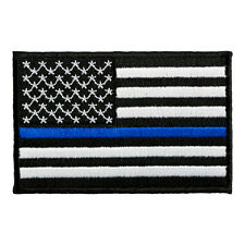 Thin Blue Line American Flag Patch, Patriotic Police Patches