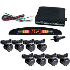 8 Sensoren + Einparkhilfe mit Display Schwarz Parkhilfe PDC Rückfahrwarner Auto