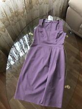 MOSCHINO ❤️ Kleid Cocktailkleid Midi  elegant ärmellos 36 34 S lila violet neu