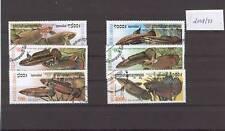 Fische Zierfische Aquarienfische Satz Kambodscha 2068-73