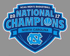 "North Carolina University 2017 NCAA Men's Basketball Champions 6"" Vinyl Sticker"
