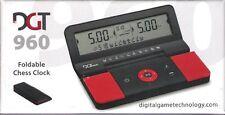 Schachuhr elektronisch: DGT 960 in schwarz / rot - NEU / OVP