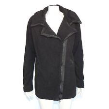 LULULEMON Moto Jacket Black Warm Fleece Full Zip Womens size 10