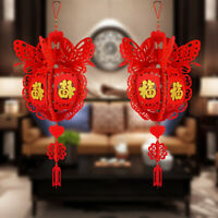 KQ_ CW_ Chinese Lucky Fu Letter Red Lantern Pendant Home Wedding New Year Party