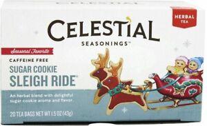 Sugar Cookie Sleigh Ride Holiday Tea by Celestial Seasonings, 1 Box