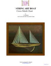 STRING ART BOAT - STITCH CHART