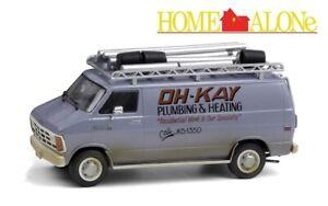 GREENLIGHT 86560 1/43 1986 DODGE RAM VAN OH-KAY PLUMBING AND HEATING HOME ALONE