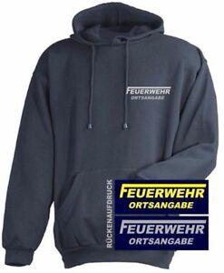 FEUERWEHR Kapuzen Sweat-Shirt / Kapuzen Pullover navy