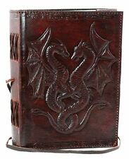 NEW Double Dragon Hand Tooled Leather Blank Book FREE SHIPPING
