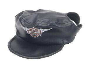 Harley-Davidson Winged Bar & Shield Pet Cap Black Vinyl - Large, H2500 H BK1LRG