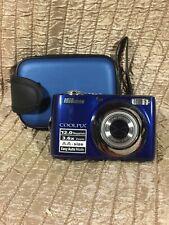 Nikon COOLPIX L22 12.0MP Digital Camera Blue 3.6x Optical Zoom