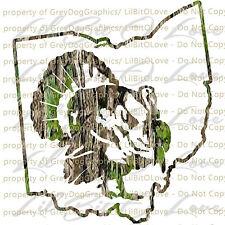 Camouflage Camo Ohio Turkey Hunter Hunting Vinyl Decal Sticker Gobbler