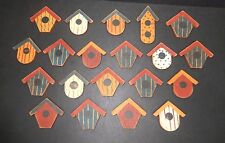 """Wood Finished  Bird houses 2"""" tall  20 pieces."""