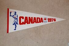 Vintage 1976 Montreal Olympics PENNANT -Torch Bearer & Canada Jersey- NM, unused