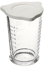 Anchor Hocking 8 oz. Triple Pour Measuring Glass with Lid - ml. oz. cup