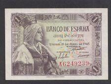 A2693 Spain Spania 1 peseta 1945 UNC