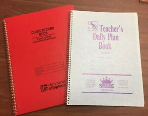 Hammond And Stephens 8.5 x 11 in. Class Record Book, Hard Cover & Daily Planner
