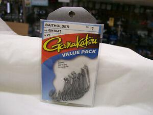 BRAND NEW GAMAKATSU #054 Black Baitholder Hooks- 25 per Pack PICK YOUR SIZE!
