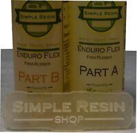 Enduro Flex (1 lb kit) – Durable, Rubber Casting Resin – Firm Rubber Feel