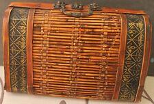 "Vintage Bamboo Purse 12.5""X8""X5.5"""