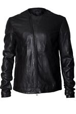 Leon louis Mens Black Lambs Leather Jacket Sz L BNWT