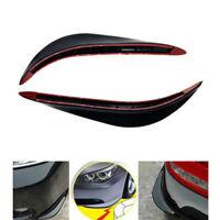 2X Rubber Universal Car Front Bumper Corner Protector Lip Guard Strip Rubber