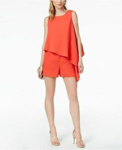BAR lll  Black Asymmetrical Sleeveless Romper Jumpsuit  Size XXL / 16  BRAND NEW