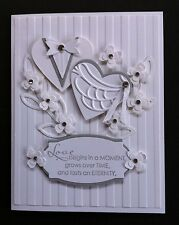 Stampin' Up Handmade Fancy Luxury Wedding Floral Card