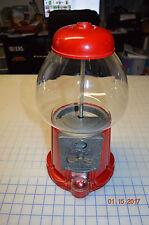 Vintage 80's 1985 Carousel Penny 5 1 cent Bubble Gum Machine Metal & Glass