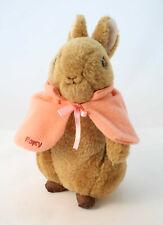 Beatrix Potter ~ Flopsy Bunny ~ Plush 21cm Soft Toy Rabbit - with pink shawl