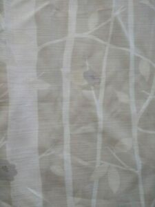 """Pair of Laura Ashley Curtains ' COTTONWOOD ' 86"""" wide X 70"""" long"""