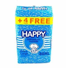 HAPPY Disposable Diapers X-LARGE 30's