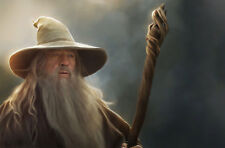 Framed Print - Gandalf (Picture Poster Lord of the Rings The Hobbit Wizard)