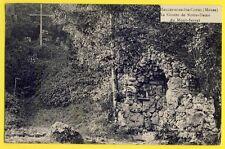 cpa Rare HALLES sous les CÔTES (Meuse) GROTTE de ND de MONTSERRAT Vierge Croix