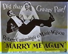 """Marry Me Again"", Robert Cunningham, Marie Wilson, Magic Lantern Glass Slide"