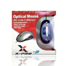X-Pro Optical Combo Mouse USB & PS/2 Connection Ergonomic Blue NEW