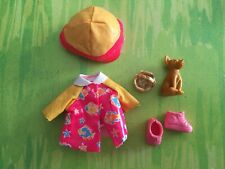 Kelly Doll Clothes Rare pink Rain jacket set