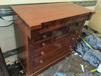 Large Antique mahogany chest of drawers V290220AA