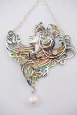 Echtschmuck-Halsketten & -Anhänger im Collier-Stil aus Sterlingsilber Rubin