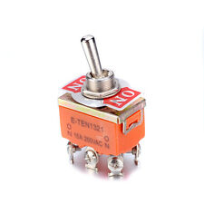 10Pcs AC 250V 15A 6 Pin DPDT On-On Dual Position Latching Mini Toggle Switch