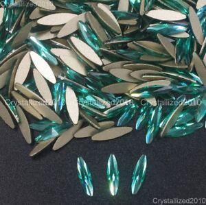 Top Quality Czech Crystal Rhinestone Navette Flatback Nail Art Decoration 3x11mm