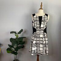 Portmans Womens Size 10 Shift Dress Black / White Checked Print