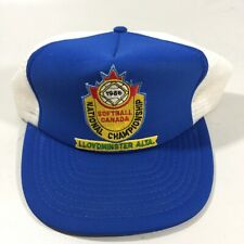 Vintage Mesh Trucker Farm Style Snap Back Hat SOFTBALL CANADA 1986 PATCH LOGO