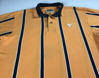 Tennessee Vols Polo Shirt VTG 90s Mens SZ M/L Volunteers Student Alumni Striped