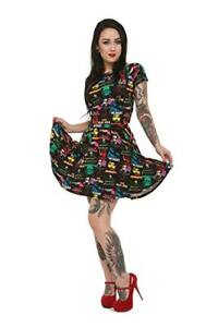 Rock Rebel Monster Pattern Skater Mummy Frankenstein Flair Dress UM-DRESS-FLAIR