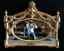 Specchiera intagliata foglia oro antica specchio molato barocco da parete S17