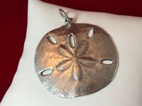 James Avery Sterling Silver Large Sand Dollar Pendant 1 3/4""