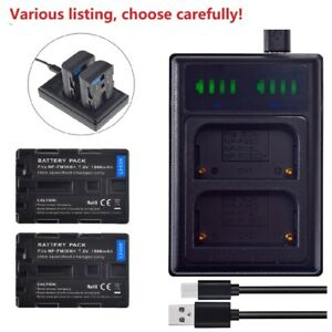 Battery or LCD Dual Charger for Sony NP-FM500H & Sony a65 SLT-A65V SLT-A65VB